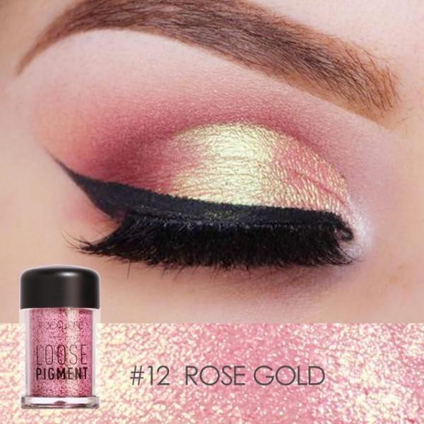 Poze Pigment Machiaj Ochi Focallure Rose Gold #12