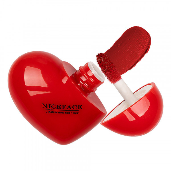 Poze Ruj Lichid Mat Niceface Heart to Lips #08