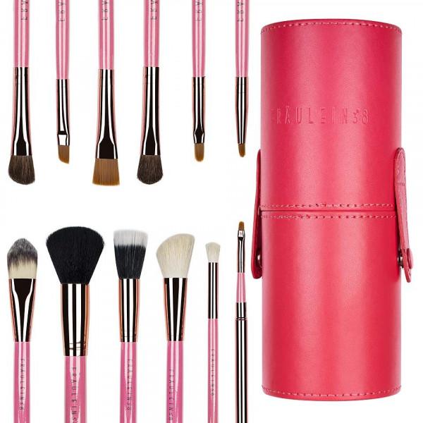 Poze Set 12 pensule profesionale machiaj Fraulein38 Pink Flamenco