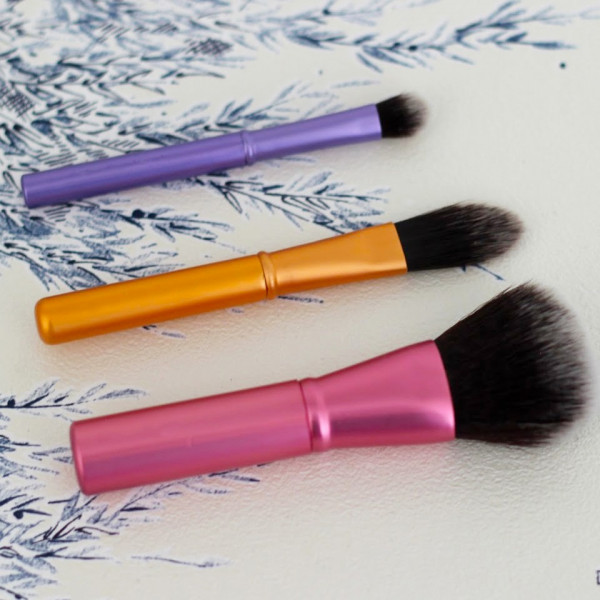 Poze Set 3 pensule machiaj din par natural - Mini Brush Trio
