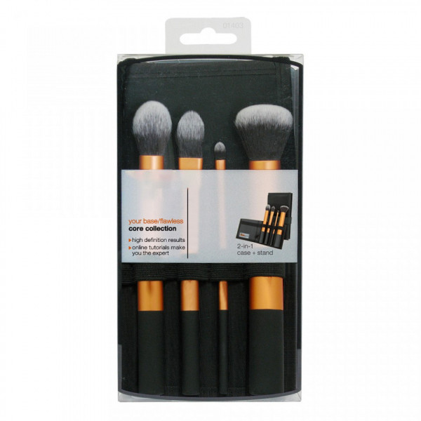 Poze Set 4 pensule machiaj profesioanale - Black Orange Collection