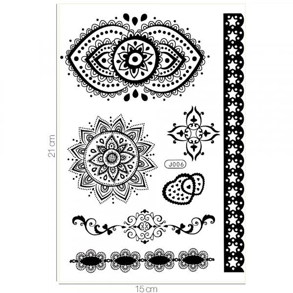 Poze Tatuaj Temporar LUXORISE Henna Temptation From India J006