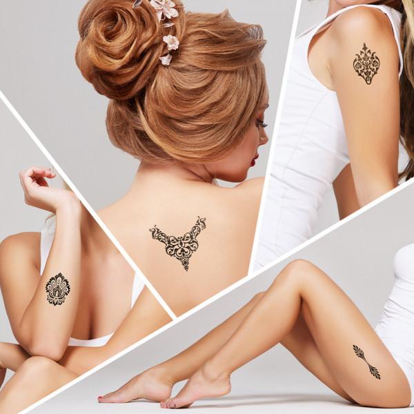 Poze Tatuaj Temporar LUXORISE Henna Temptation Queen's Jewelry J034