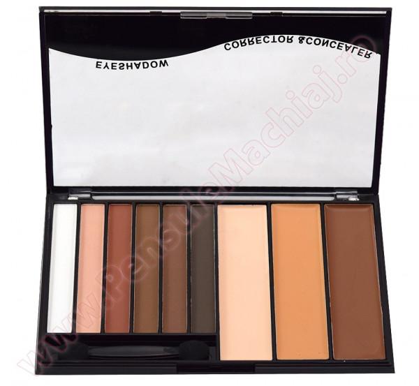 Trusa Machiaj 9 culori Eye Shadow & Concealer Meis #03 - Mellow Moderns