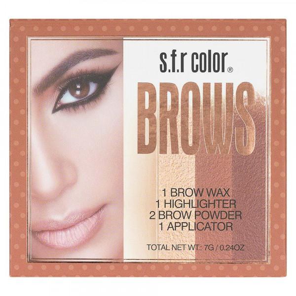 Poze Trusa Sprancene - Fard, Ceara, Iluminator si Pensula aplicare S.F.R Color B