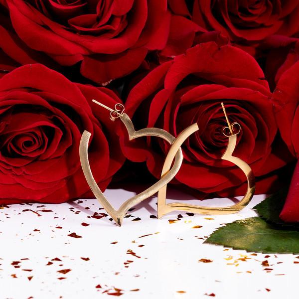 Poze Cercei Inox Fancy Hearts