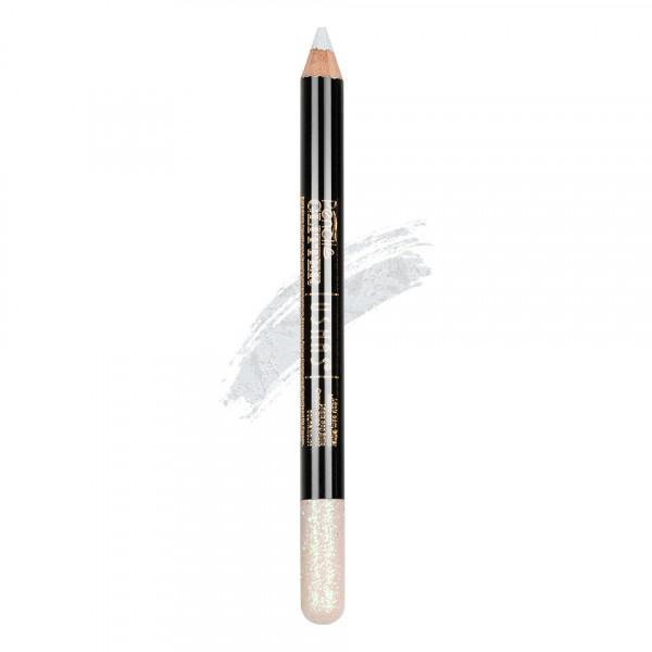 Poze Creion Colorat Contur Ochi cu Sclipici, Ushas Glittery White #02
