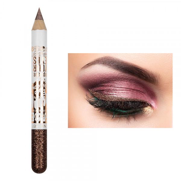 Poze Creion Contur Ochi Colorat cu Sclipici, Waterproof #507