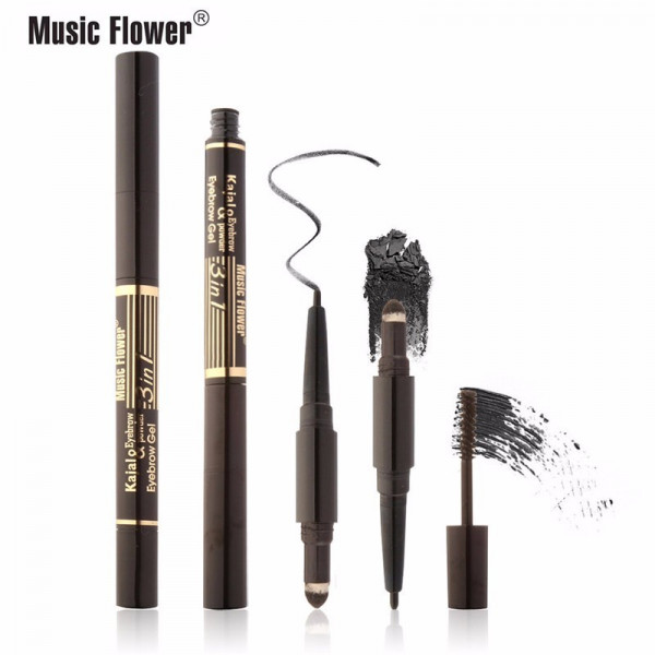Poze Creion sprancene Music Flower 3 in 1 Waterproof Formula