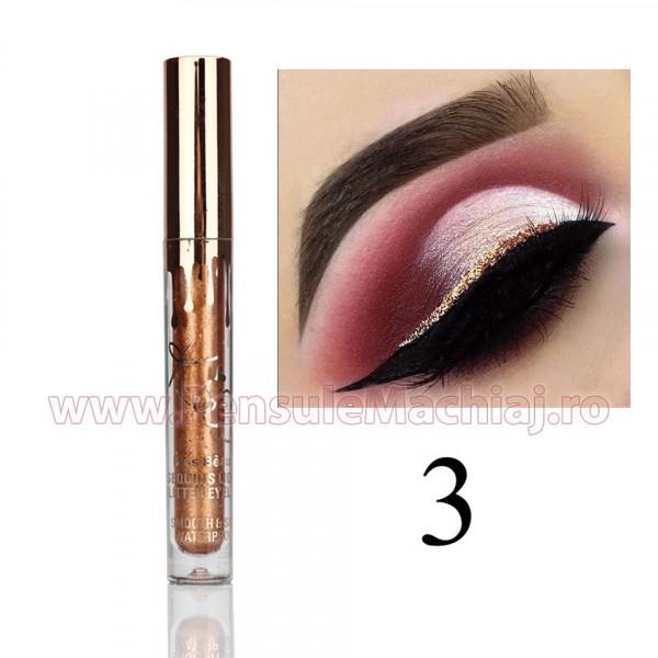 Eyeliner Lichid Rezistent la Transfer - Bronze Glitter Shimmer