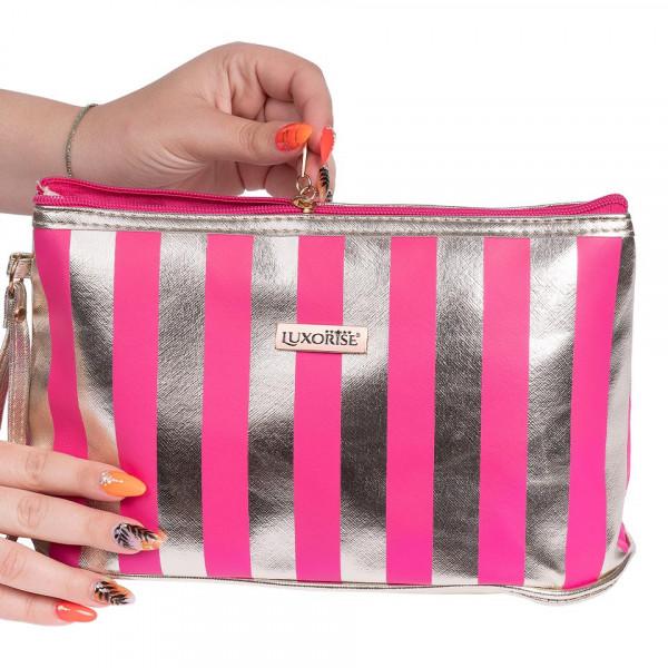 Poze Portfard Travel Pink & Gold LUXORISE, Elite