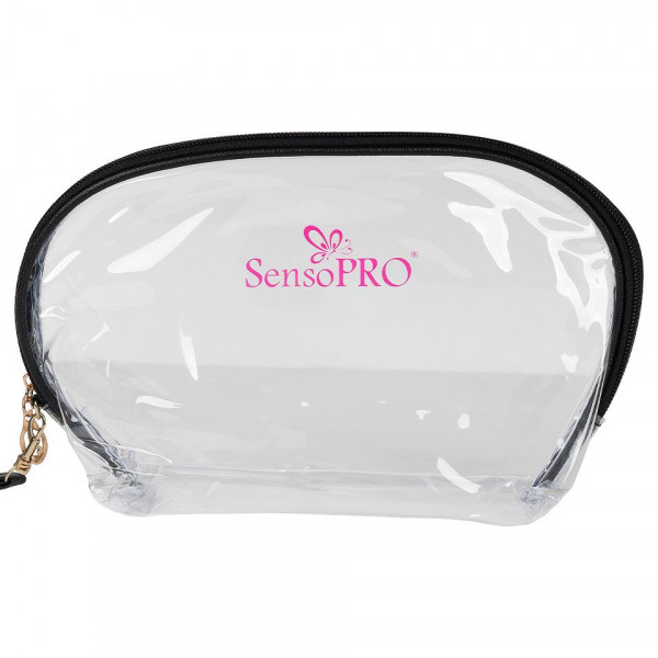 Poze Portfard Travel Transparent & Black, SensoPRO Flamingo, set 3 buc