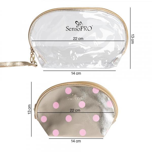 Poze Portfard Travel Transparent & Gold, SensoPRO Exquisite, set 2 buc