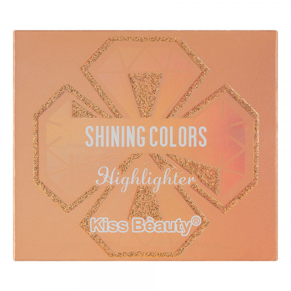 Poze Pudra Iluminatoare Kiss Beauty Shining Colors #02 Pink Belle
