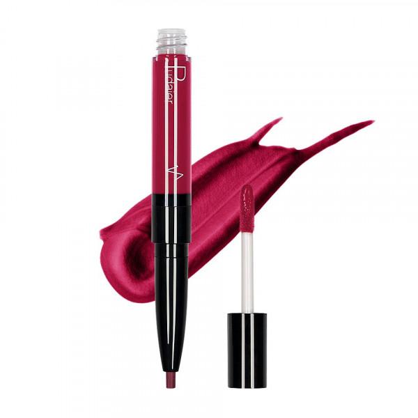 Poze Ruj lichid mat 2 in 1 cu creion de buze Pudaier KissME #11