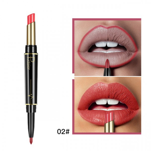 Poze Ruj Mat 2 in 1 Pudaier Sharp Coral #02