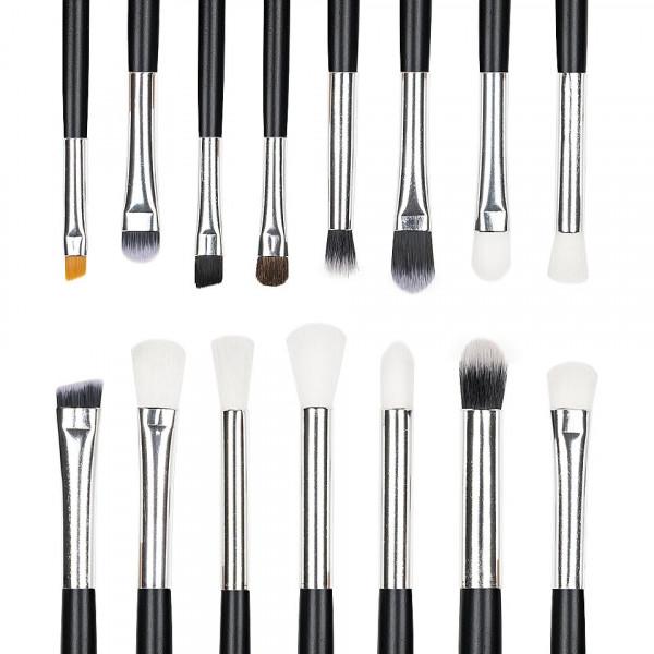 Poze Set 15 pensule machiaj Precise Makeup, Black + Borseta Cadou