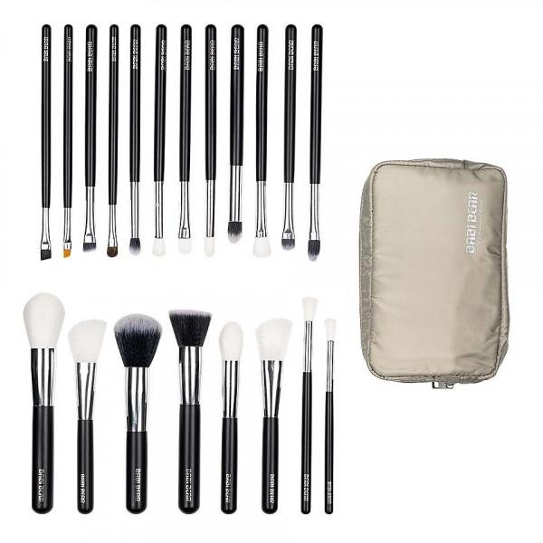 Poze Set 20 pensule machiaj Perfect Make-Up + Borseta Bej CADOU
