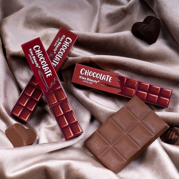 Poze Set 3 Rujuri Lichide Mate Chocolate Kiss Beauty Velvet Lipgloss #01