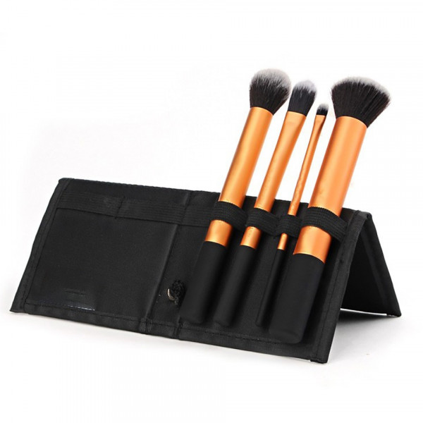 Poze Set 4 pensule machiaj profesioanale - Black Orange Collection + Borseta Cadou