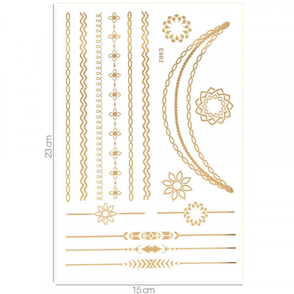 Poze Tatuaj Temporar LUXORISE Henna Temptation Gold Edition E002