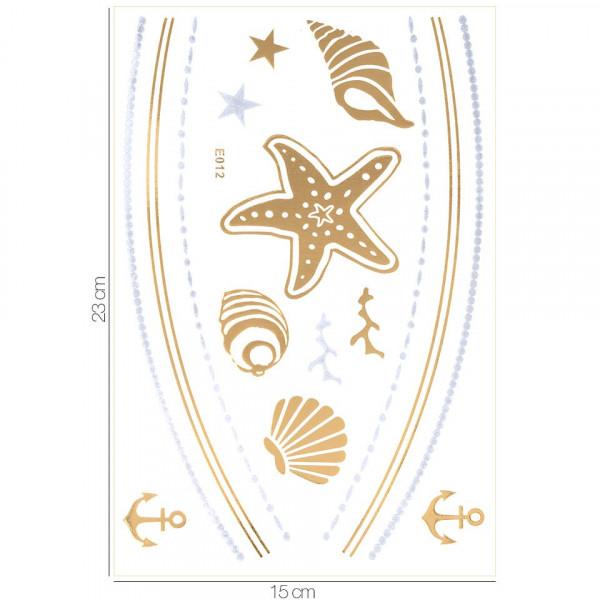 Poze Tatuaj Temporar LUXORISE Henna Temptation Gold Edition E012