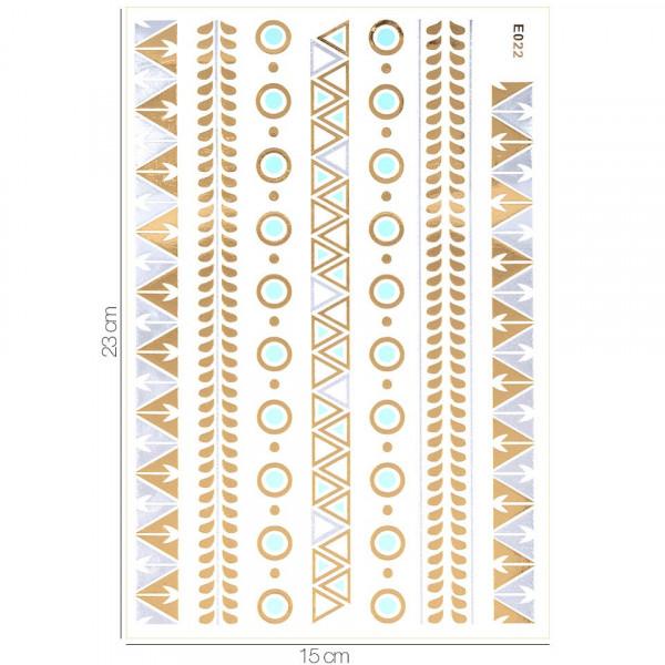 Poze Tatuaj Temporar LUXORISE Henna Temptation Gold Edition E022