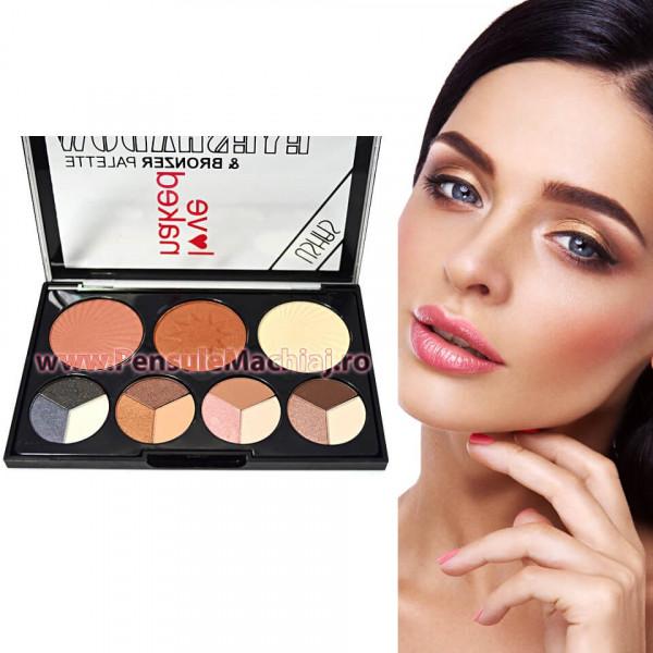 Poze Trusa Machiaj 15 culori cu blush si bronzer #01 Glow Kit Bronzer Palette