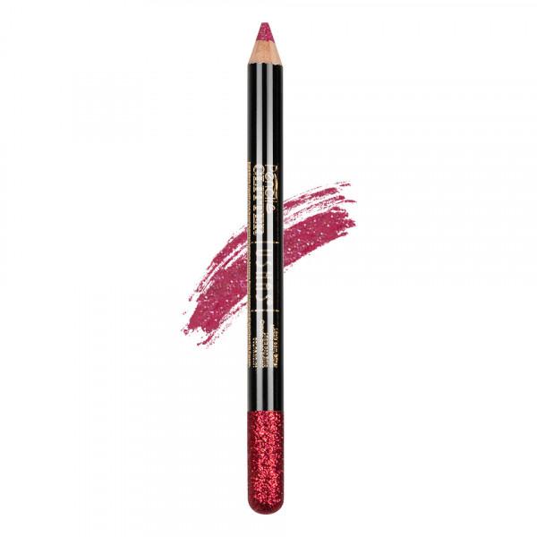 Poze Creion Colorat Contur Ochi cu Sclipici, Ushas Glittery Red #11