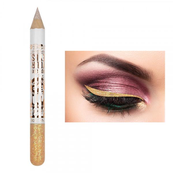 Poze Creion Contur Ochi Colorat cu Sclipici, Waterproof #506