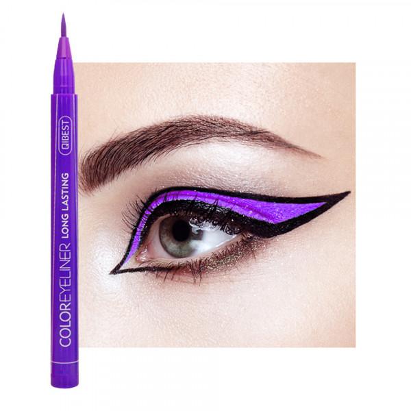 Poze Eyeliner colorat Qibest Waterproof, Mov #09