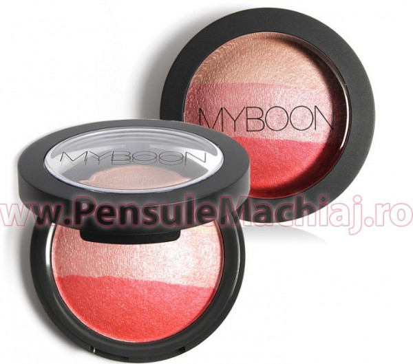 Poze Fard obraz Classic Velvet Three Color Blush #01