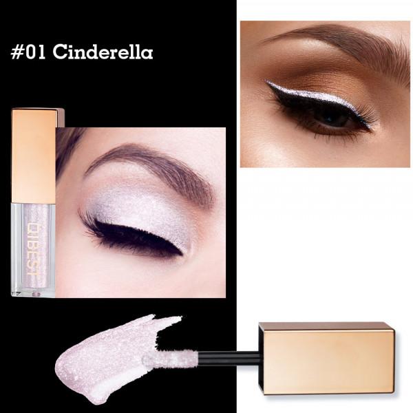 Poze Fard Pleoape Lichid Qibest Eye Shimmer #01 Cinderella