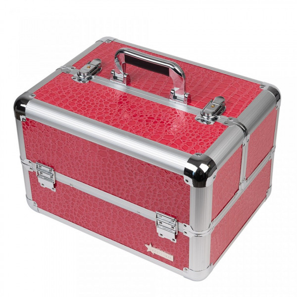 Poze Geanta Produse Cosmetice Fraulein38, Pink + CADOU Set 12 Pensule Machiaj