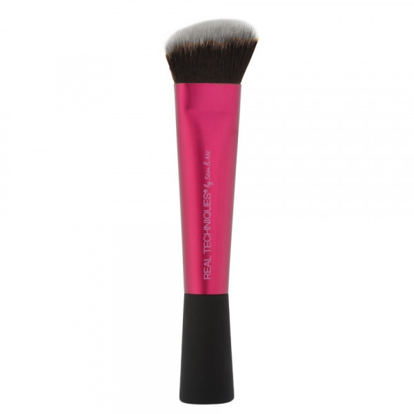Poze Pensula Machiaj Real Techniques - Angled Sculpting Brush Dark Brown