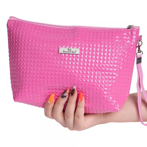 Poze Portfard Cosmetice SensoPRO, Baby Pink