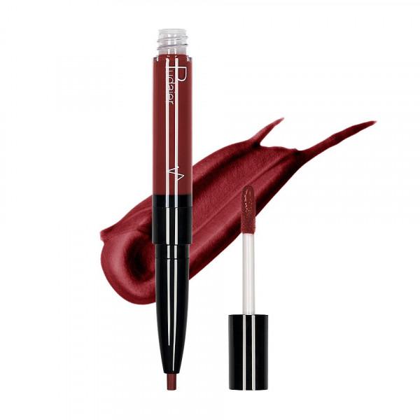Poze Ruj lichid mat 2 in 1 cu creion de buze Pudaier KissME #10