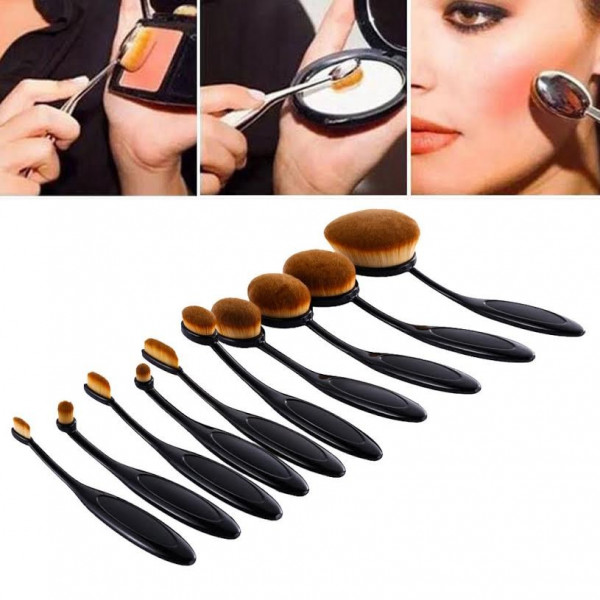 Poze Set 10 pensule machiaj Ovale Curve Brushes Beauty Make-up