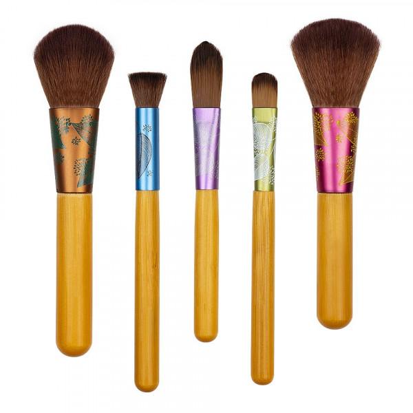Poze Set 5 pensule profesionale machiaj EcoTools Fresh and Flawless
