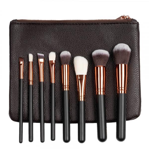 Poze Set 8 pensule machiaj Indispensable Makeup + Borseta Cadou