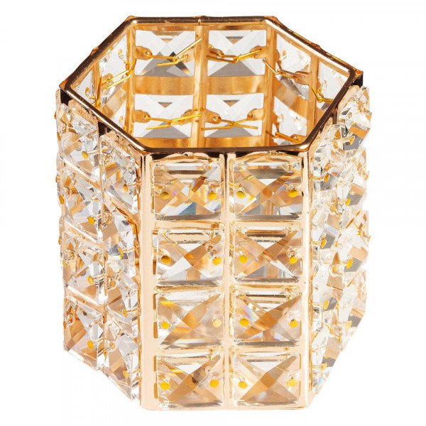 Poze Suport Pensule Crystal, Rich Gold