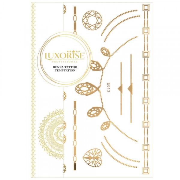 Poze Tatuaj Temporar LUXORISE Henna Temptation Gold Edition E013