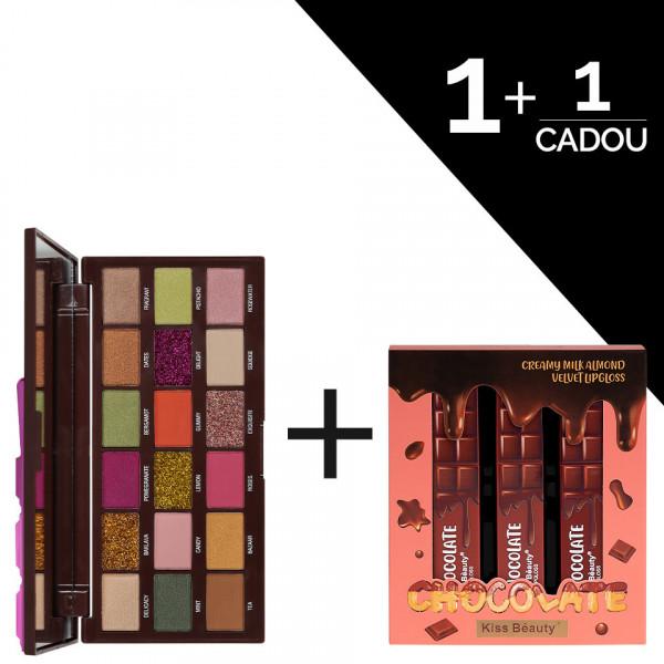 Poze Trusa Farduri MakeUp Revolution Turkish Delight + CADOU Set 3 Rujuri Chocolate Kiss Beauty