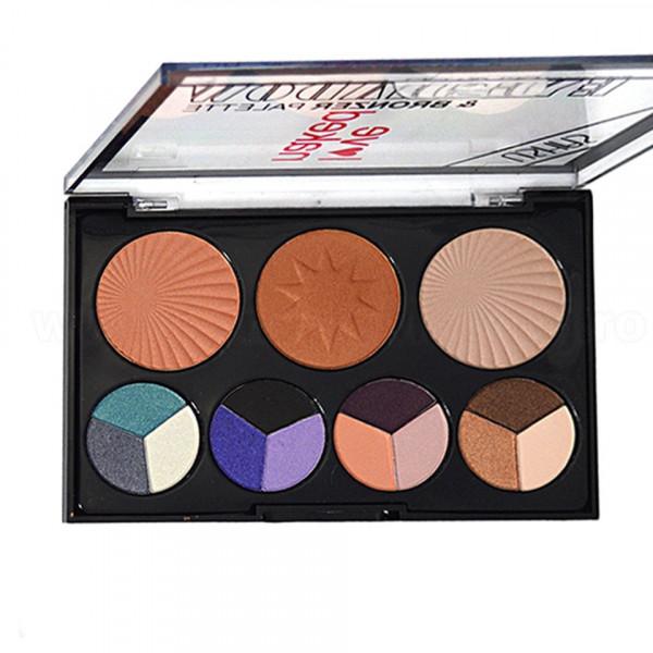 Poze Trusa Machiaj 15 culori cu blush si bronzer #02 Glow Kit Bronzer Palette