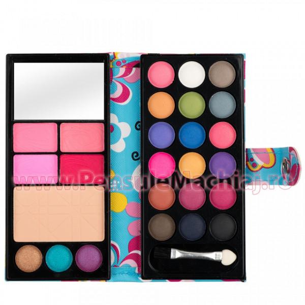 Poze Trusa Machiaj 26 culori cu blush si pudra Secret Book of Wonders