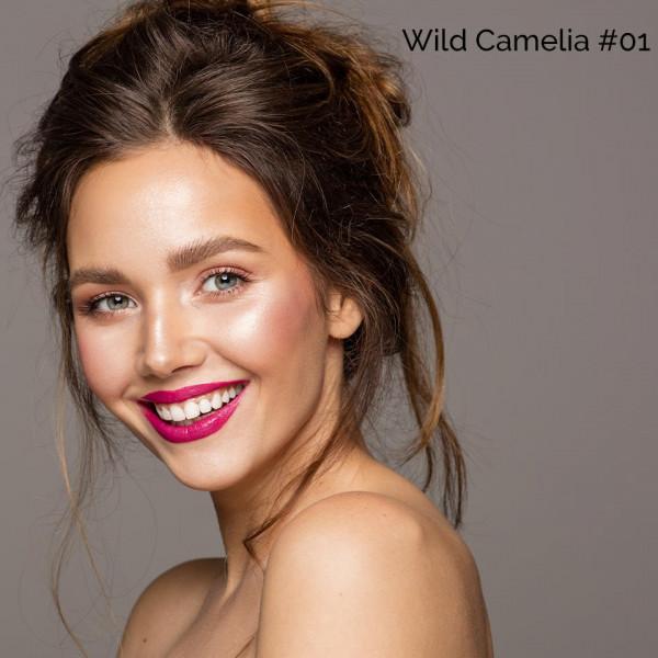 Poze Blush cu aplicator O.TWO.O Wild Camelia #01
