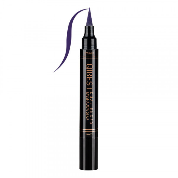 Poze Eyeliner Colorat tip Carioca cu Stampila Ochi, Qibest Mirage Purple #09