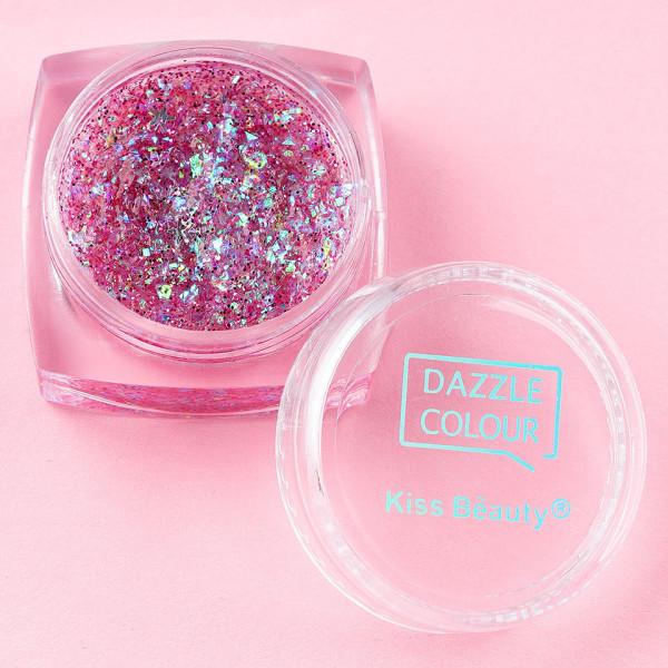 Poze Fard de Pleoape Cremos Kiss Beauty Dazzle Colour, set 6 buc
