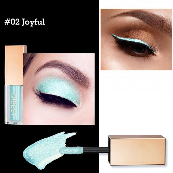 Poze Fard Pleoape Lichid Qibest Eye Shimmer #02 Joyful