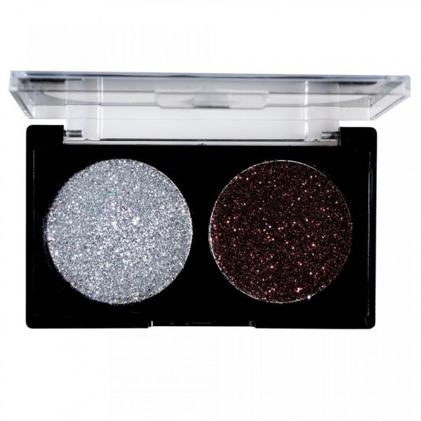 Poze Glitter Ochi Pulbere Silver & Brown